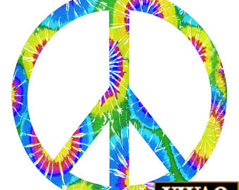 Peace Sign clipart tye dye Tie Peace Etsy Decals Flower