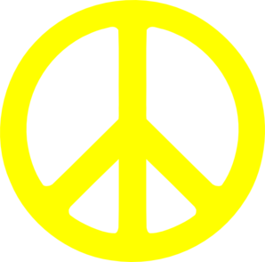 Peace Sign clipart yellow Yellow Peace Yellow art Sign