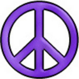 Peace Sign clipart yellow Peace Black Glow clip with