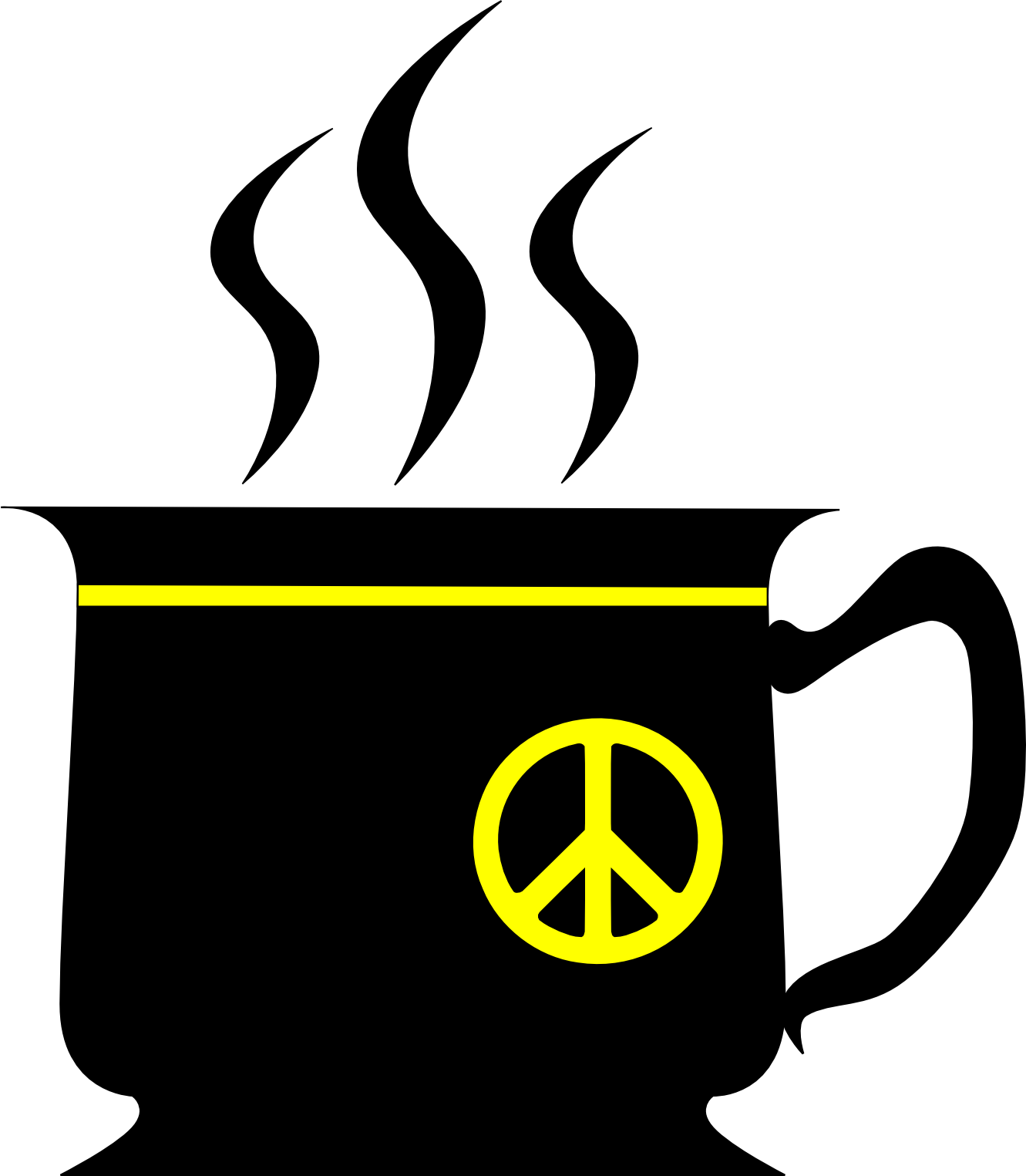 Peace Sign clipart yellow   cup Sign fav