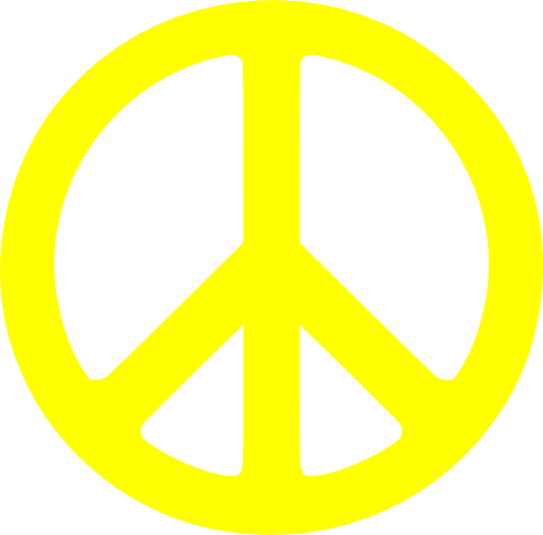 Peace Sign clipart yellow Download Sign Peace online image