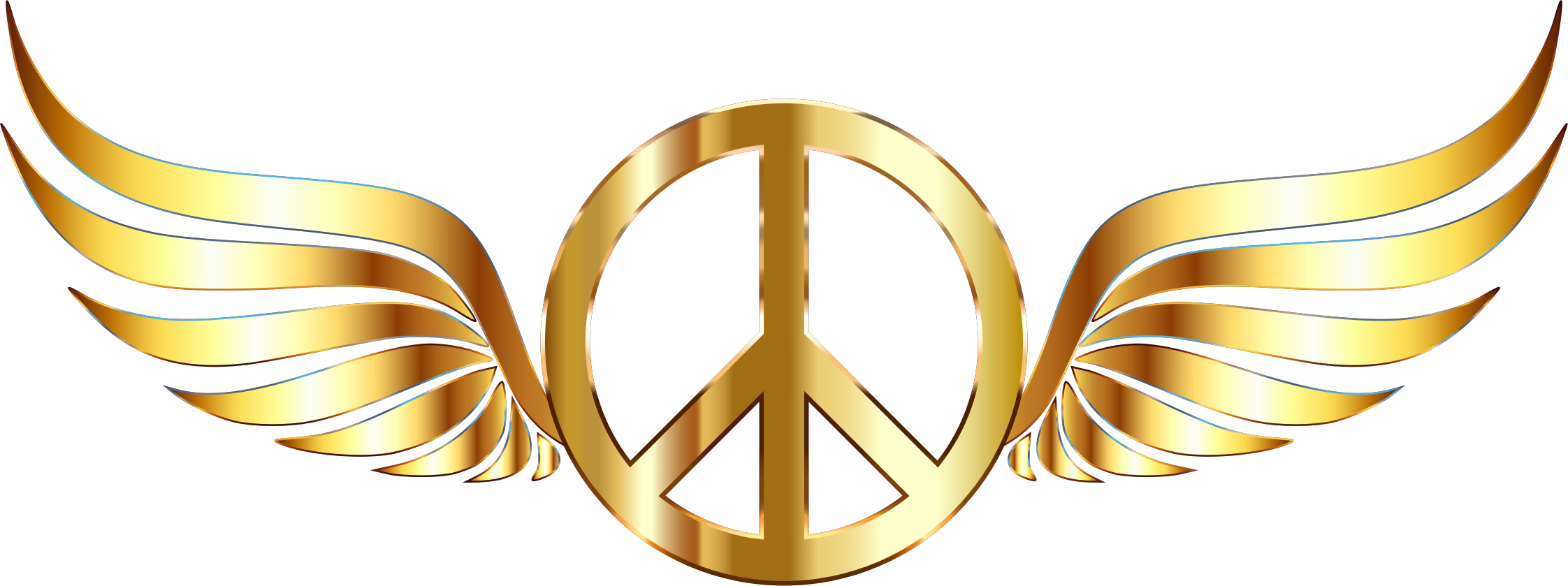 Peace Sign clipart yellow Gold Clipart Background Sign Sign