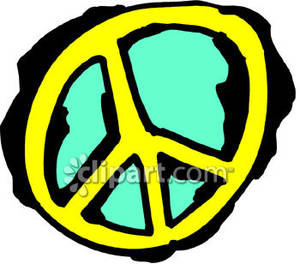 Peace Sign clipart yellow  Peace Yellow picturesof with
