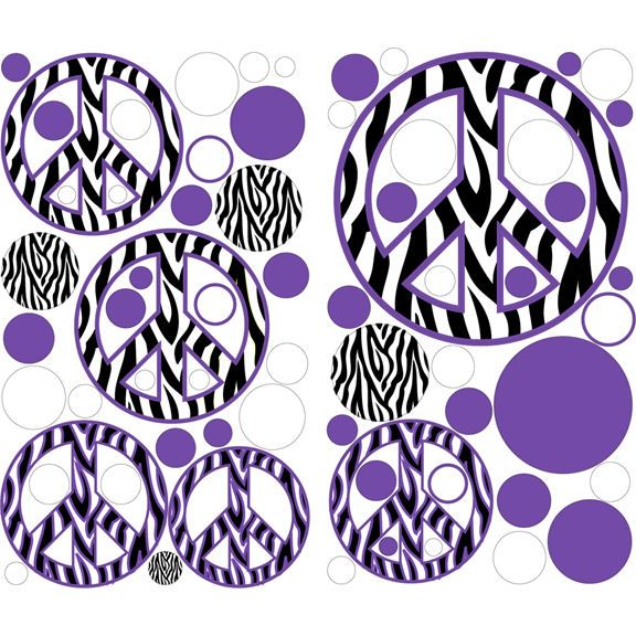 Peace Sign clipart zebra About Purple best Outlet Sign