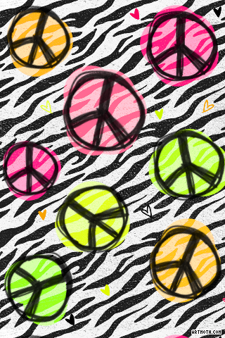 Peace Sign clipart zebra Print Visit Places to iPhone