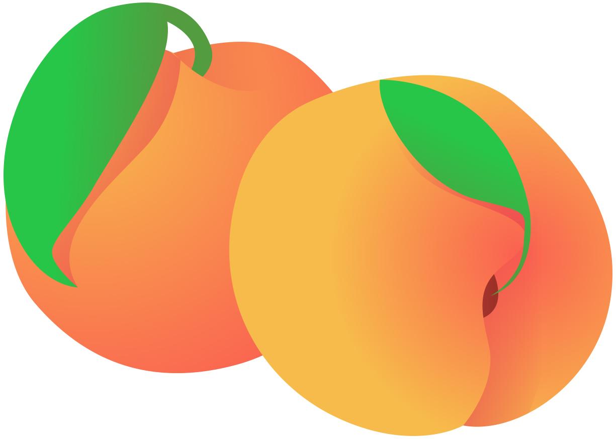 Peach clipart happy Com Peach Clip Peach Clip