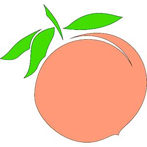 Peach clipart happy Peach download of peach clipart