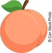 Peach clipart Stock Illustration Peach Eps Images