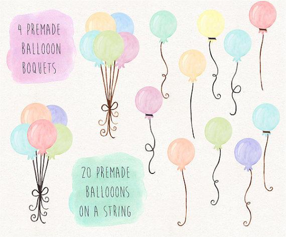 Peach clipart balloon Balloons Balloon Balloons Hand Painted