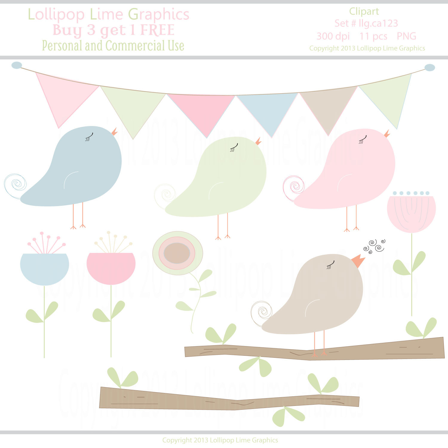 Peach clipart banner INSTANT Chics DOWNLOAD Chics Blue