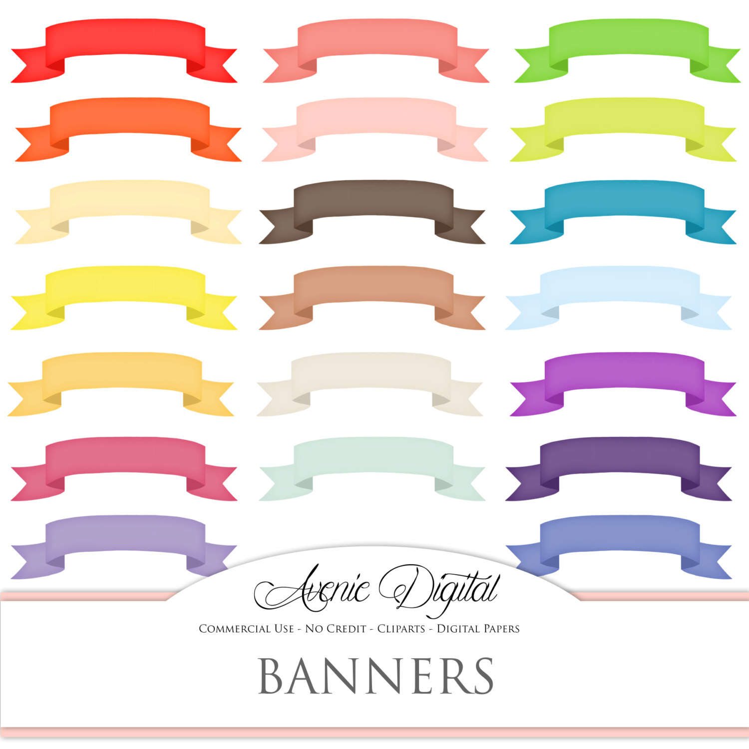 Peach clipart banner File  is Scrapbooking Banner