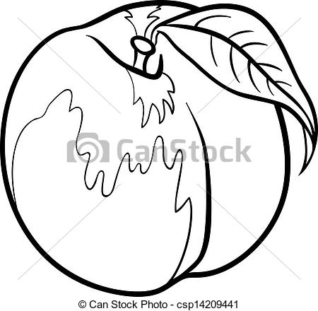 Peach clipart black and white Of and for illustration peach