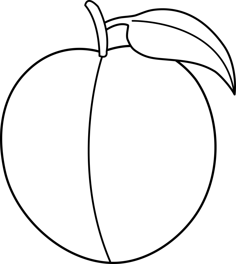 Peach clipart black and white Pictures clip 3 Peach Art