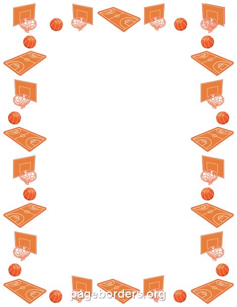 Peach clipart border Page Basketball Clip Graphics Borders