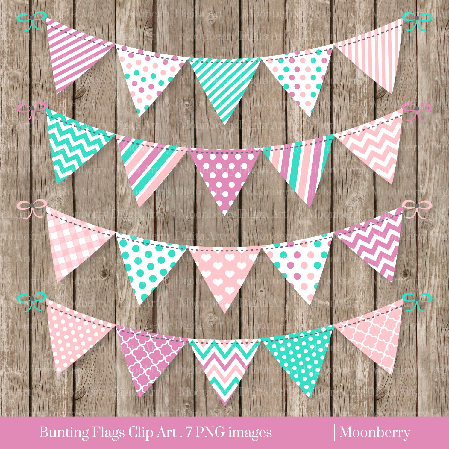 Peach clipart bunting Patterned Banners Use CLIPART