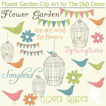 Peach clipart bunting And Pink Art Clip Flower