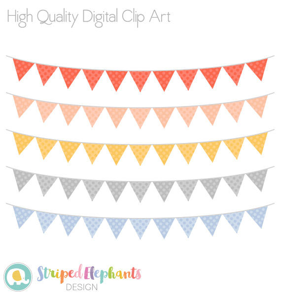 Peach clipart bunting Bunting Blue  This a