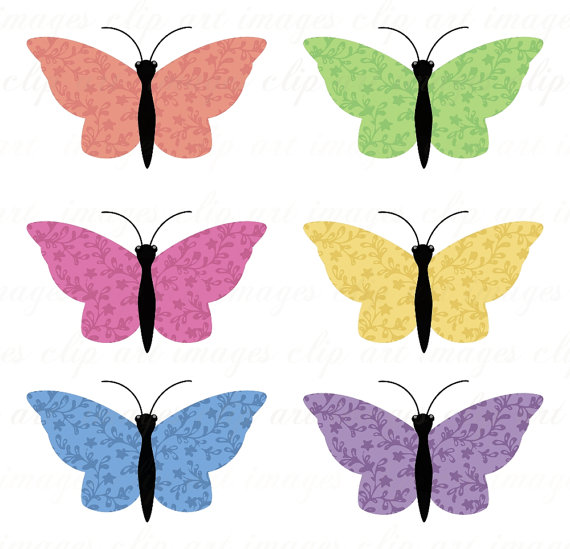 Peach clipart butterfly Green Pink and Green Art