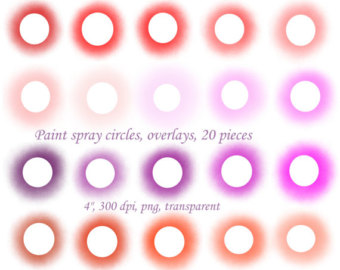 Peach clipart circle Clip 20pcs circles frames paint