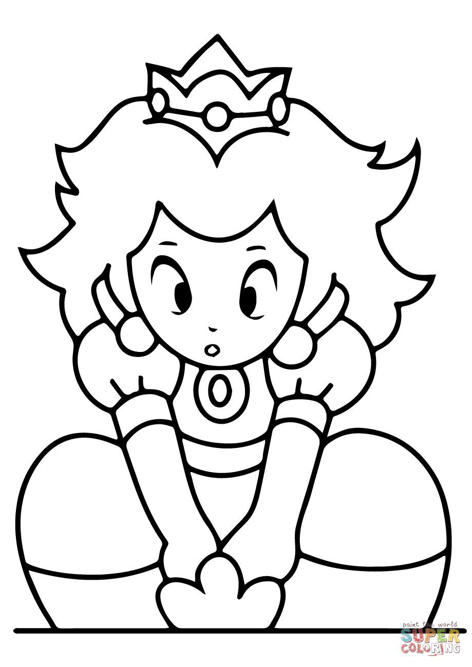 Peach clipart coloring Free iPad page Princess Coloring
