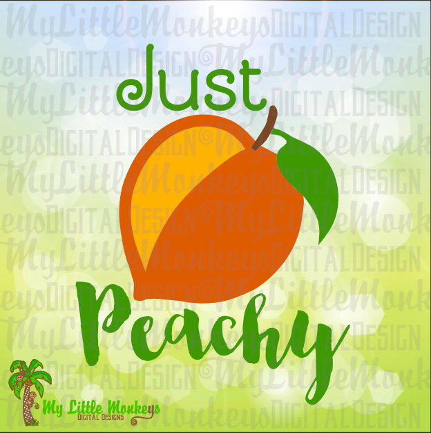 Peach clipart cut ~ ~ Peachy Art Peachy