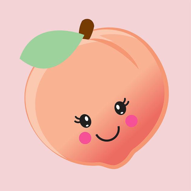 Peach clipart cute Sweet as the on a