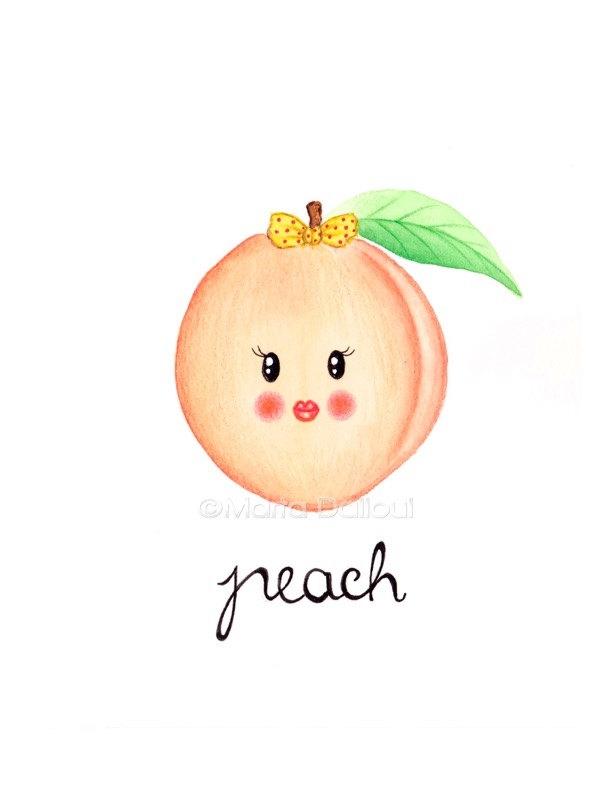 Peach clipart cute Cute Peach Clipart peach clipartsgram