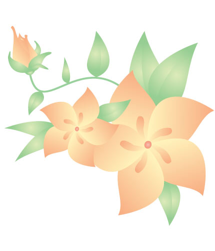 Peach Flower clipart animated flower Cliparts Free Art  color