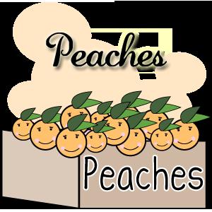 Peach clipart happy Clip Clipartix happy happy clip