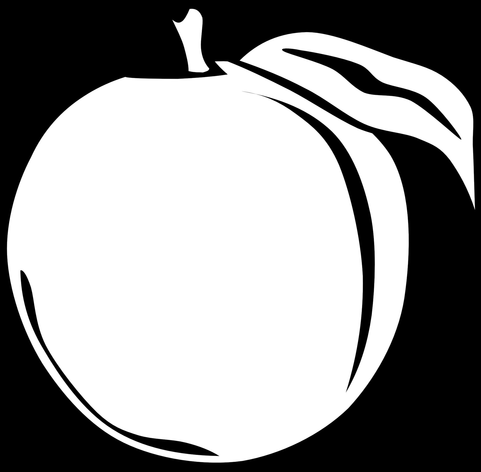 Peach clipart orange fruit Black orange Fruit black black