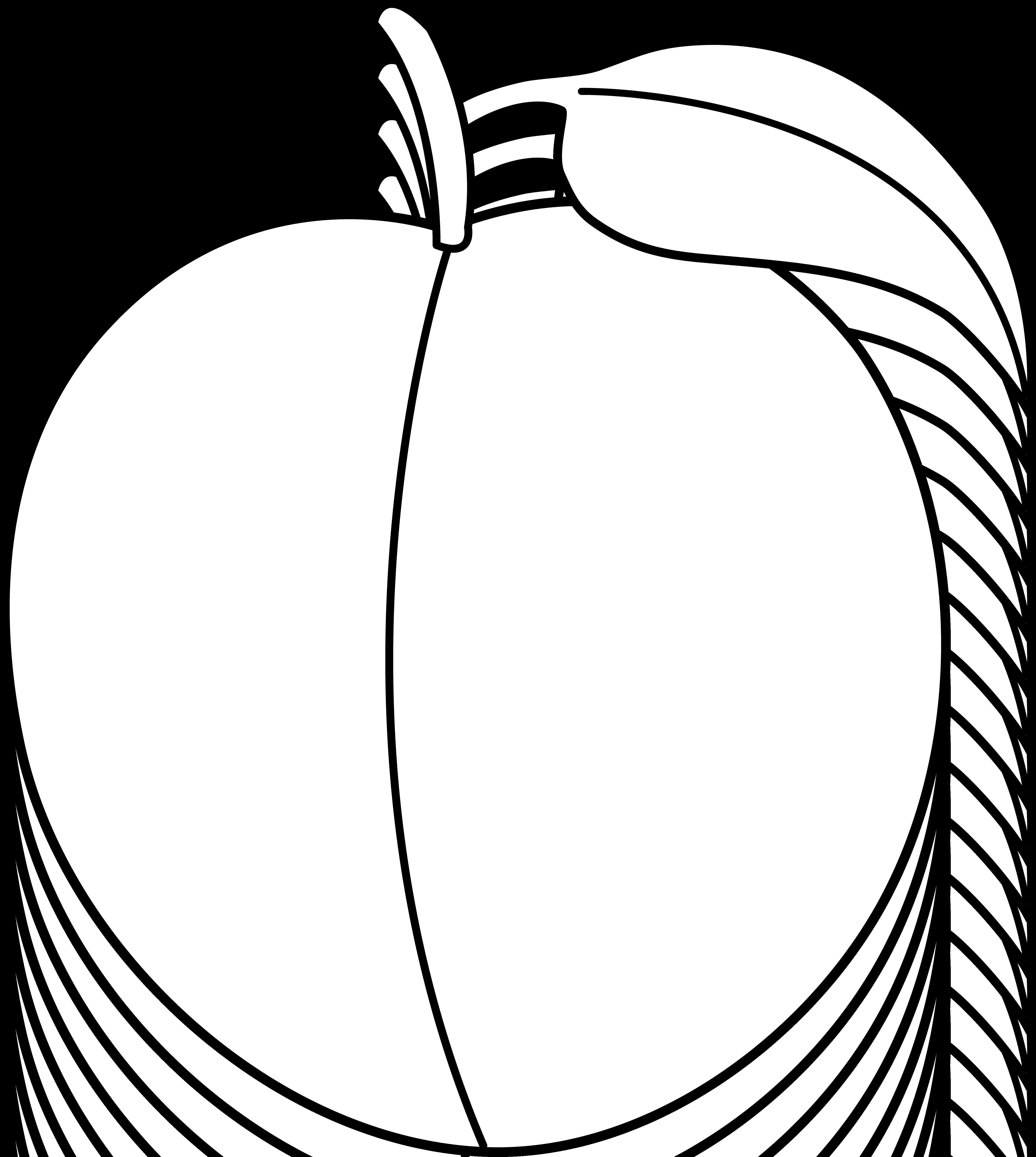 Plum clipart outline Clip Peach Colorable Coloring Peach
