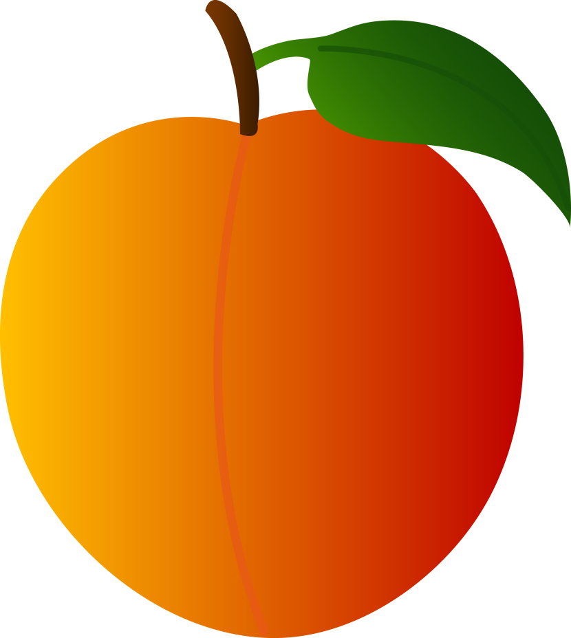 Peach clipart outline Peach Peach #31415 clipart art