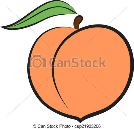 Peach clipart outline Logo icon art stock icons