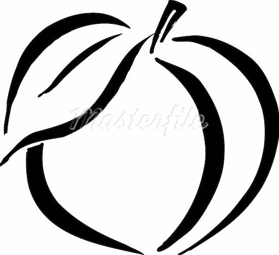 Peach clipart outline Clipart Clipart Free healthy%20food%20clipart%20black%20and%20white White