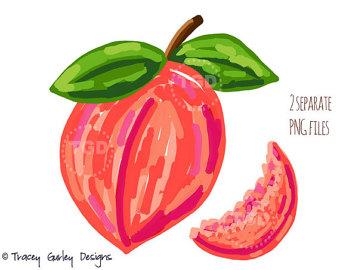 Peach clipart peach slice Georgia fruit clip peach Peach