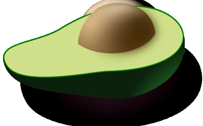 Peach clipart pit Half Free avocado Vectors an