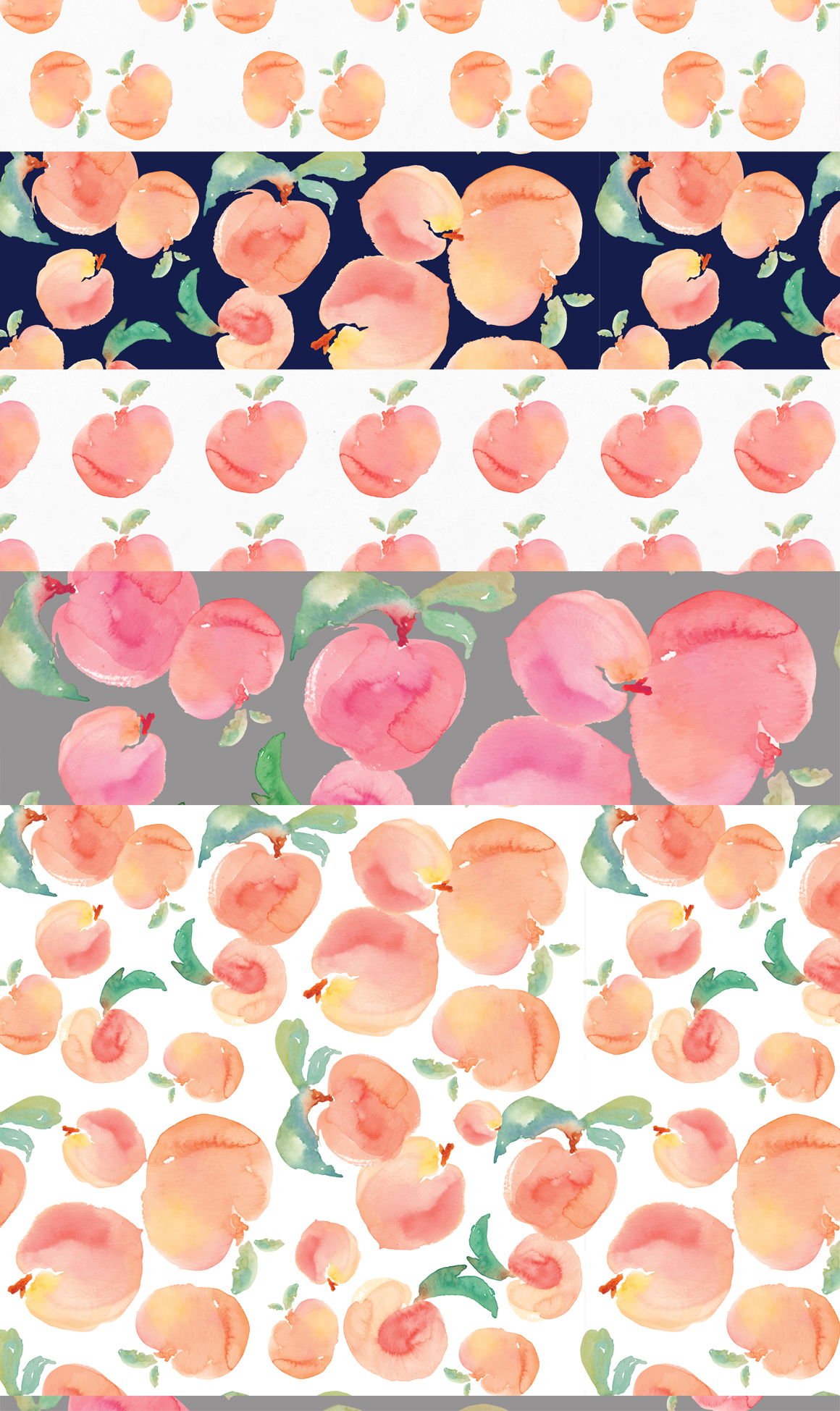Peach clipart watercolor Art Watercolor Patterns Peaches Watercolor