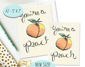 Peach clipart you re All You're Occasion Thank Pun
