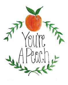 Peach clipart you re You're  a Print Typography
