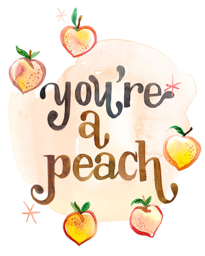 Peach clipart you re Amarilys Art Henderson Peach Henderson