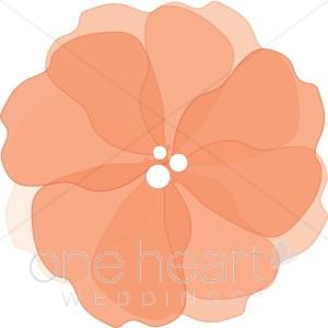 Orange Flower clipart transparent 72 ( Watercolor