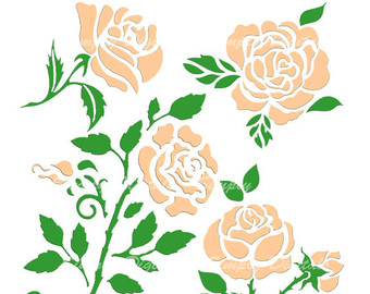 Peach Flower clipart Etsy Clipart Roses Wedding Instant