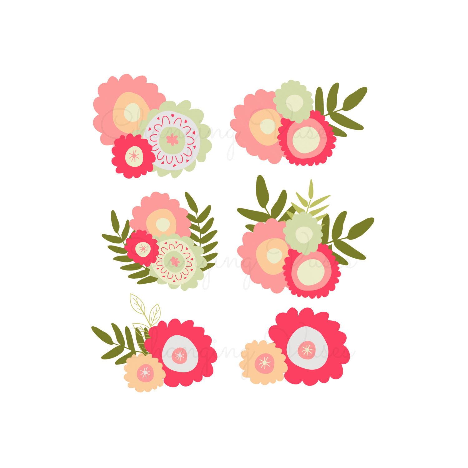 Peach Flower clipart peach blossom Kid peach flower flower Floral