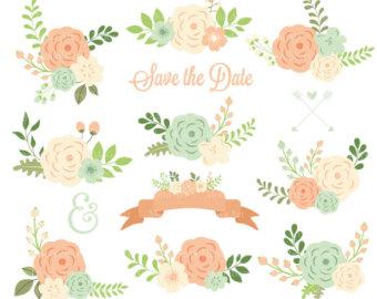 Rustic clipart wedding floral FLORAL Wedding WEDDING File FLORAL