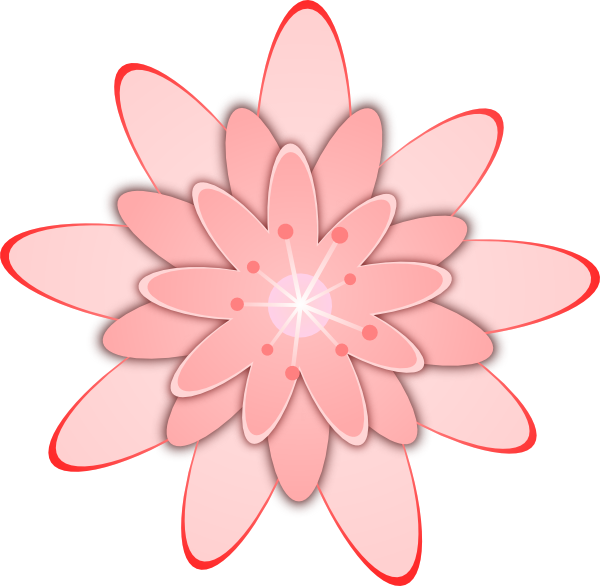 Peach Flower clipart animated flower Flower Clker vector art clip