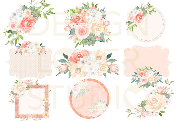 Peach Flower clipart blush flower Is  flower a file