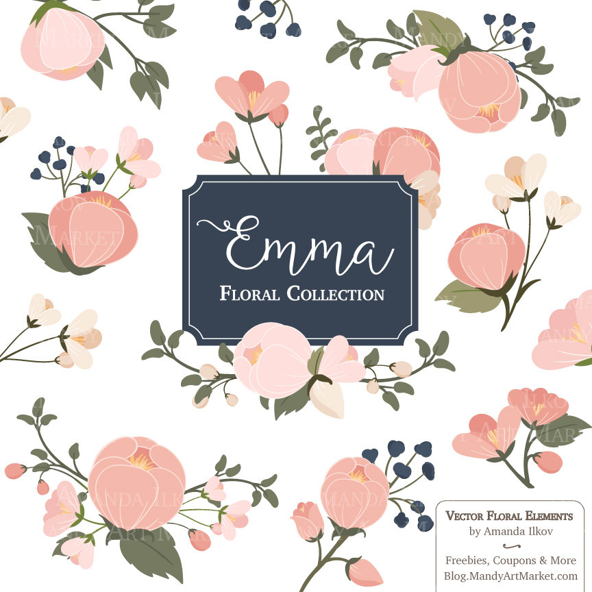 Peach Flower clipart blush flower Free Clipart Clip on Download