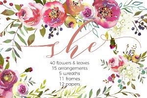 Peach Flower clipart floral wedding Graphics Watercolor Themes Photos Peach