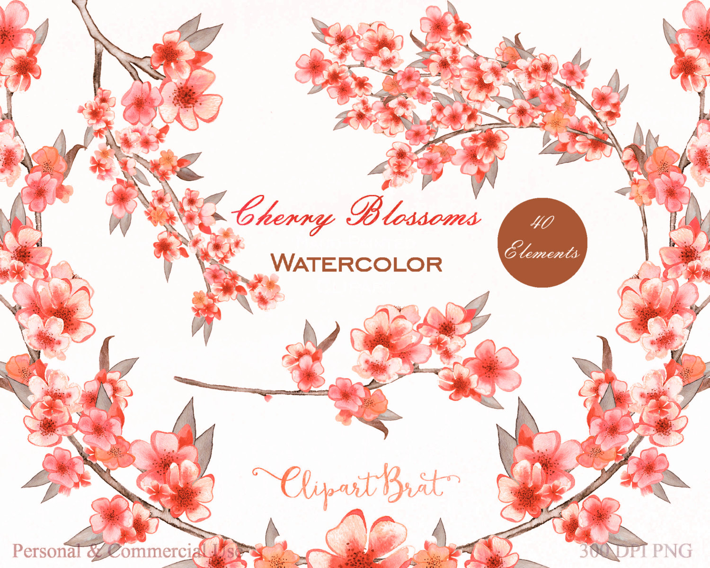 Peach Flower clipart floral wedding Clipart a Use FLOWERS