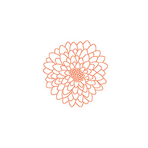 Peach Flower clipart mums flower Large DoudouSDesign_MyLazinessMoments Outline Stamp Mum
